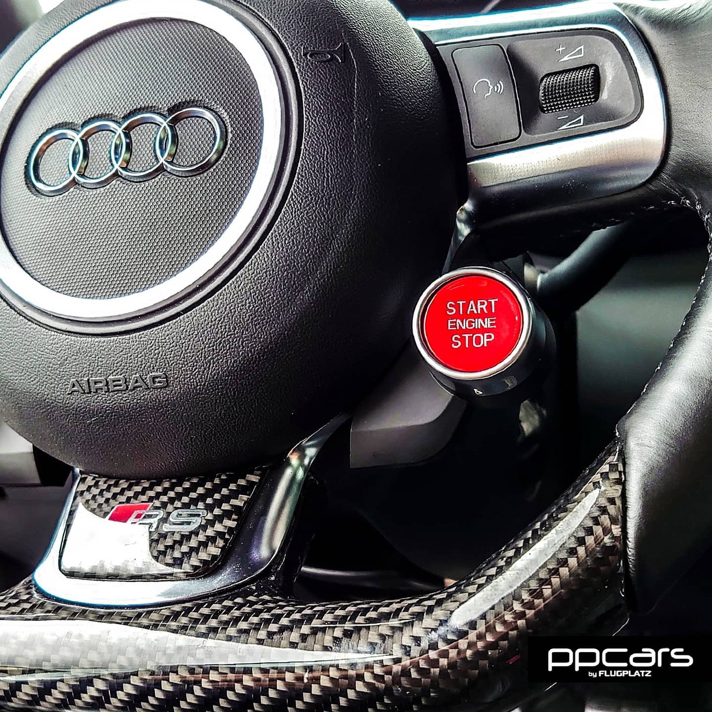 Audi R8 x ステアリングスイッチ プッシュ変換キット取付