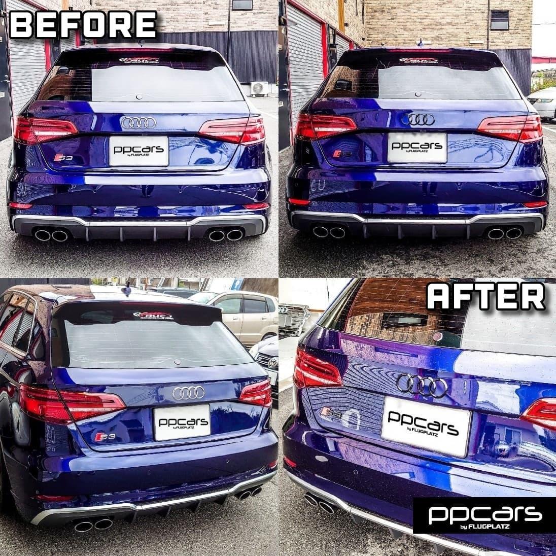 Audi S3 (8V) Sportback x RS3スタイルフロントグリル x ブラックエンブレム